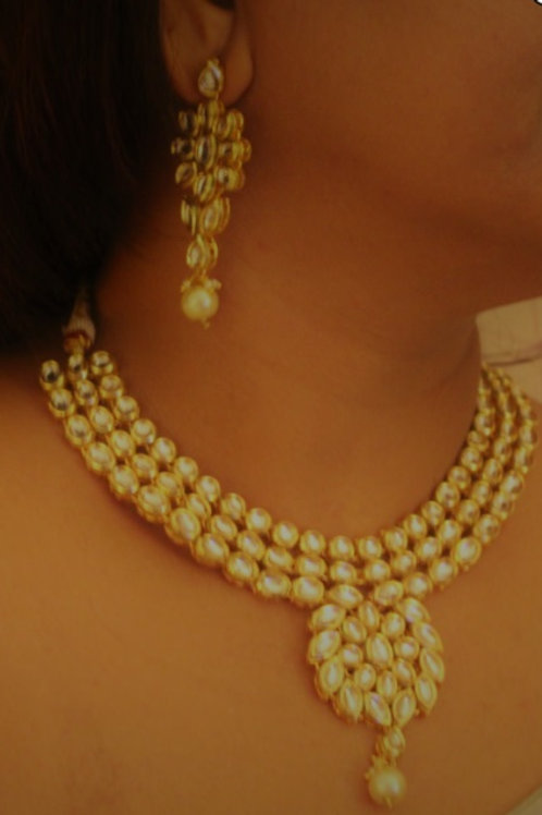 Kundan Necklace with maang tikka