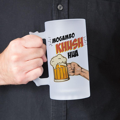 Mogambo Khush Hua Frosted Beer Glass