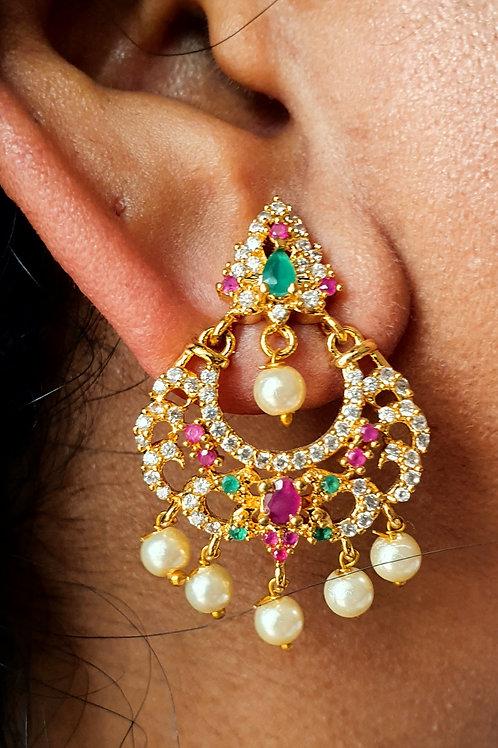 CZ and kemp stones earings