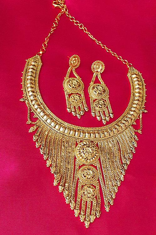 24 carat gold plated choker