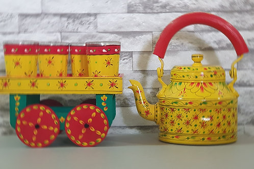 Traditional Hand Painted Kettle Set