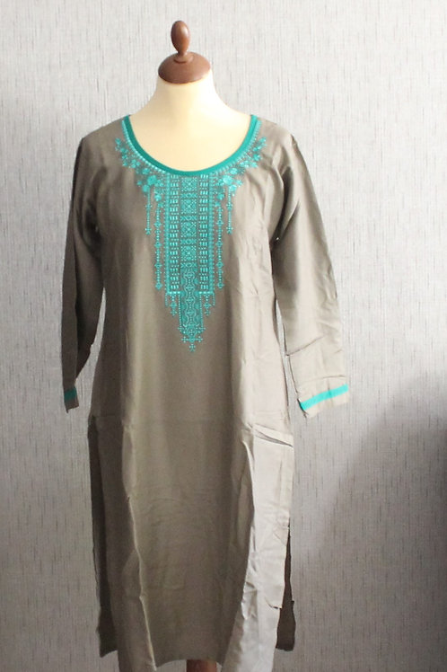 Grey kurti with Teal bottom (Size 40)