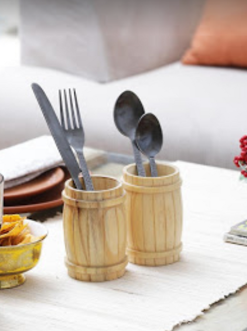 Barrel Cutlery Holder
