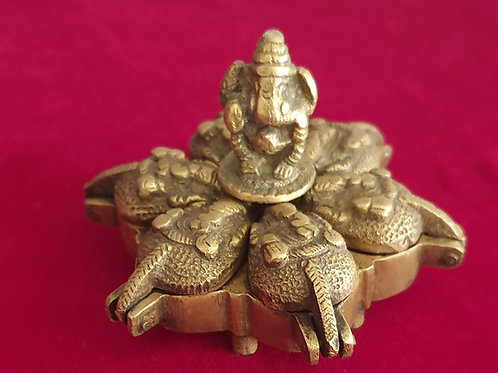 Lord Ganesh kumkum holder