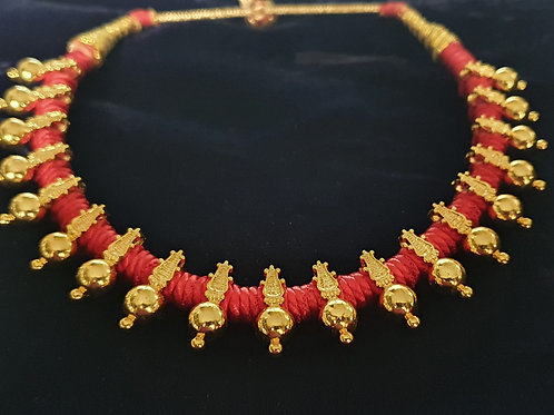 Red Thread Necklace Thushi  - 2