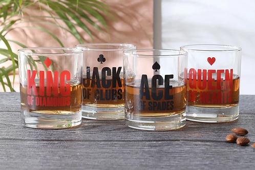 """Cards"" whiskey glasses (set of 4)"