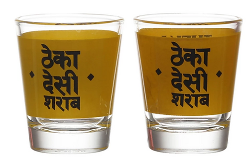 Theka Desi Sharab Shot Glasses