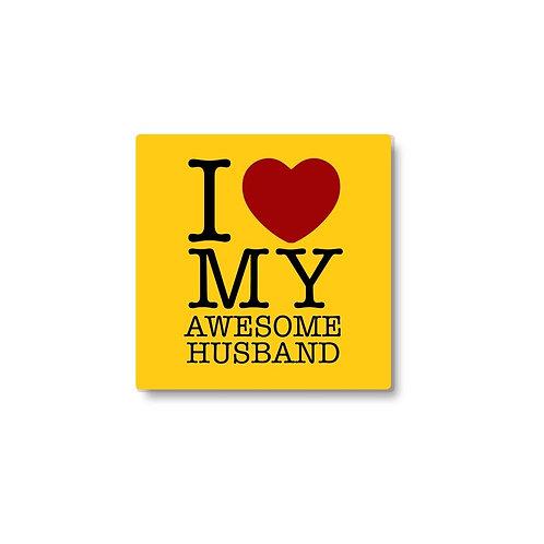 I Love My Awesome Husband coaster