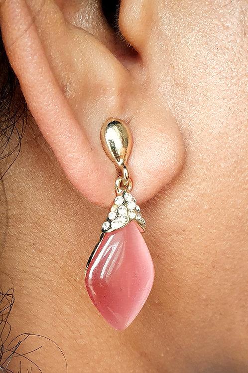 Pink Chalcedoney earrings