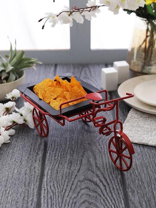 Red & Black Cycle Rickshaw platter
