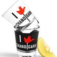 I Love Chandigarh shot glasses