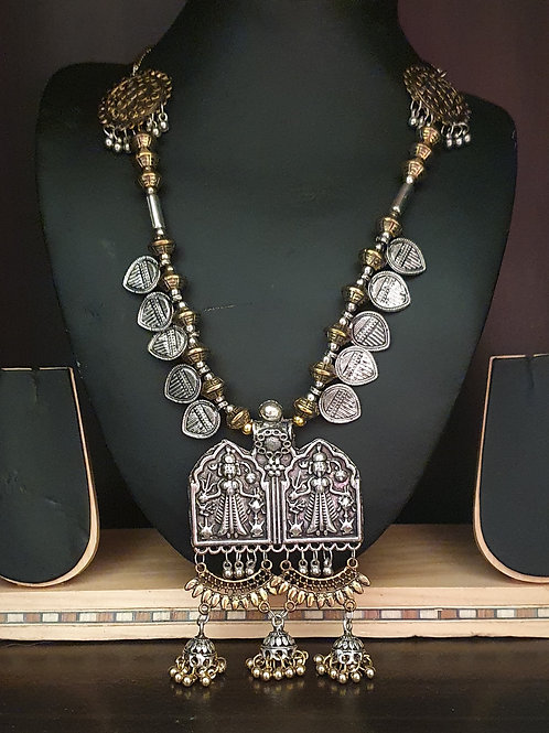 Ma Durga Dual Tone necklace