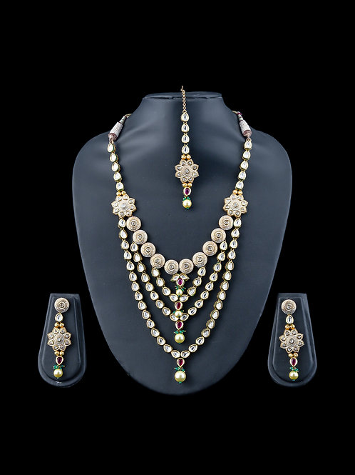 4 Layered Kundan Necklace