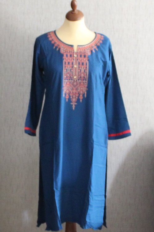 Aegean Blue kurti with bottom (Size 40)