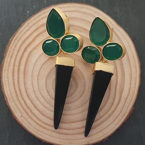 Jade Onyx Earrings
