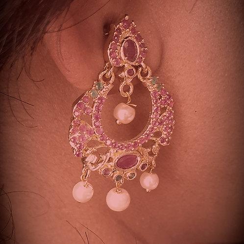 CZ and kemp stone earrings