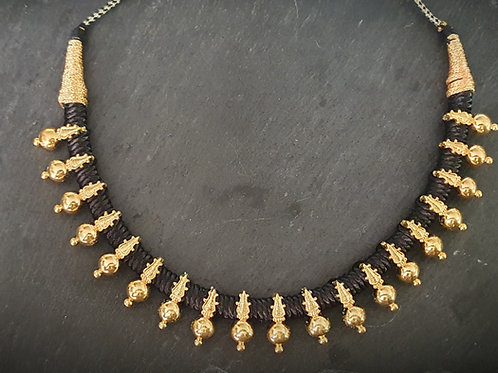 Black Thread Necklace Thushi  - 2