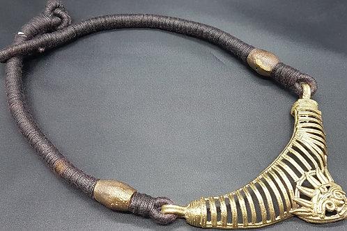 Dokha pendant in black thread