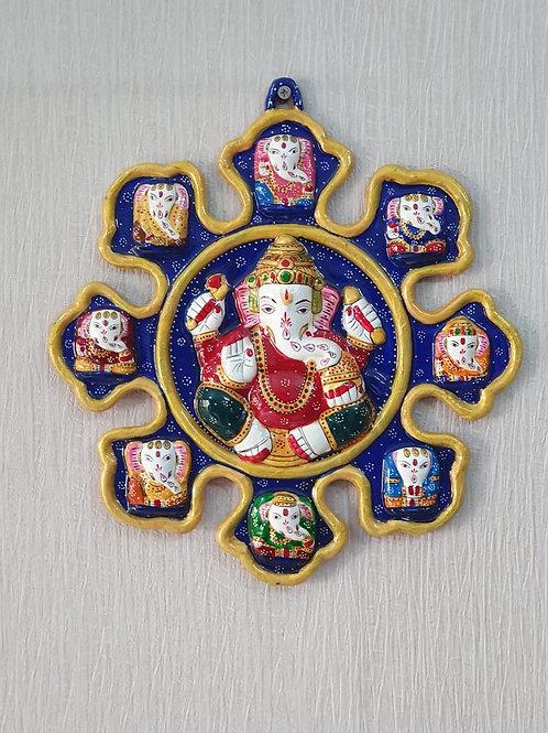 9 Chakras Ganesha Wall Hanging