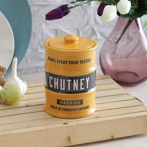 Barrel (yellow) Chutney Jar