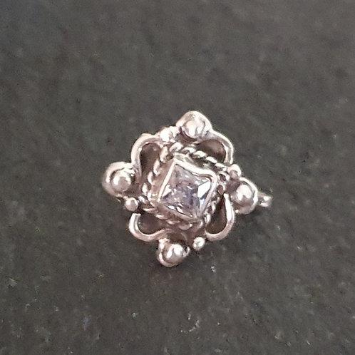 92.5 Silver nosepin - Clipon