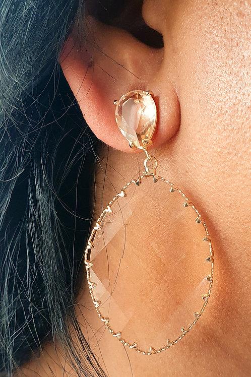 Swarovsky Element earrings - Oval