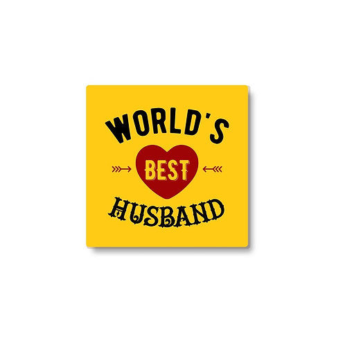 Worlds best husband coaster