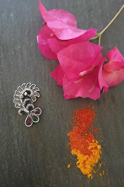 German Silver nath/nosepin Clipon