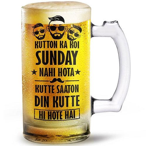 Kutton Ka Sunday beer mug