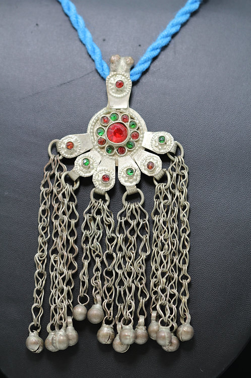 Afghani Pendant with colored beads