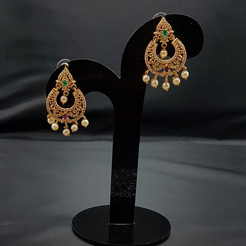 Gold plated AD earrings