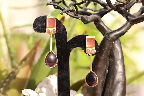 Violet Onyx Earrings
