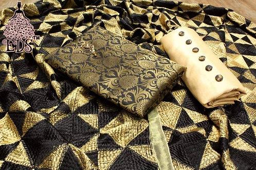 Banarasi top fabric with phulkari dupatta