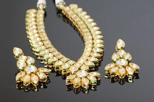 Kundan necklace - Leaf Design