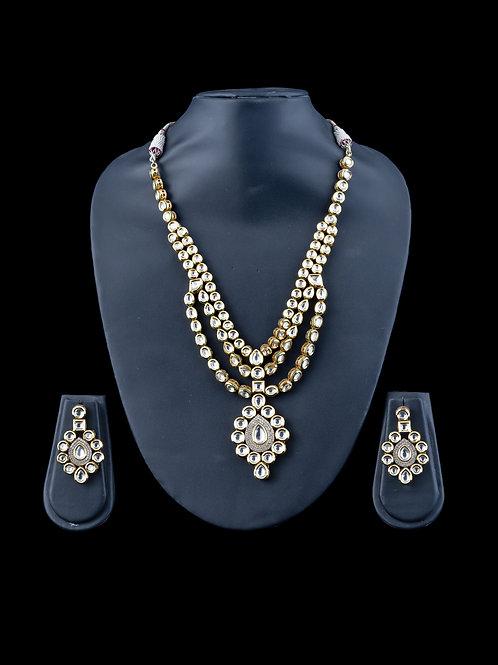 Kundan 2.5 Layered necklace