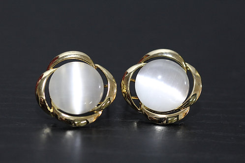 White moonstone earrings - studs