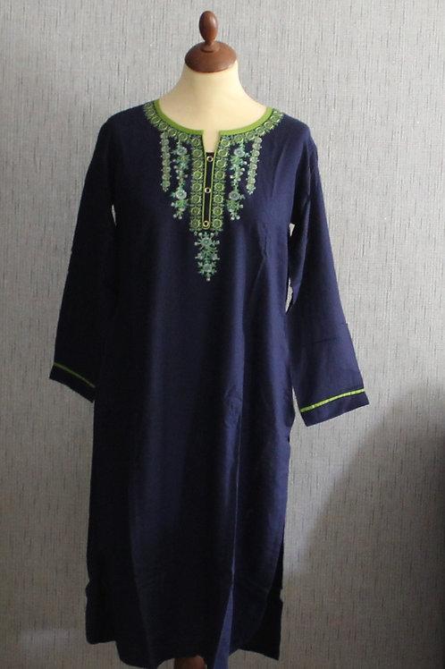 Navy Blue kurti with bottom (Size 40)