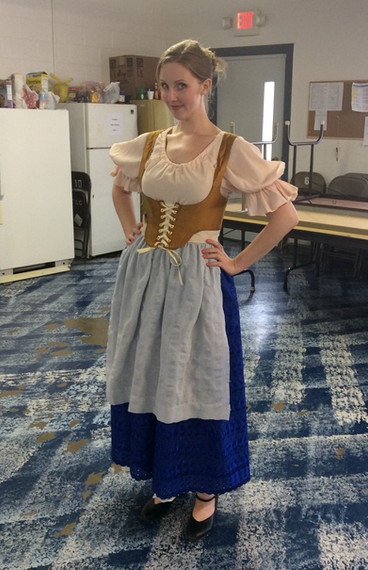 backstage with the Baker's Wife (Opera in the Ozarks, 2014)