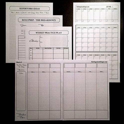 BUNDLE - Lesson Binder Basics (includes calendar pages)
