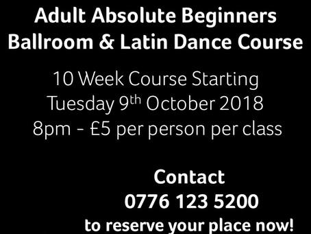 New Absolute Beginners 10 Week Dance Course