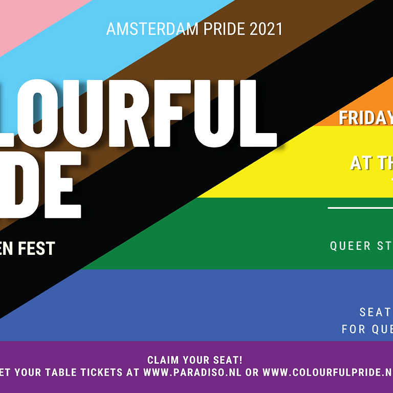 Colourful Pride Seated Garden Fest '21