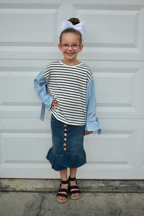 Vanzie St. Girls Denim Skirt