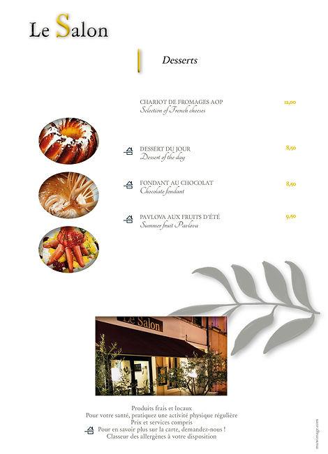 Menus Grégoire - Entrées Plats Desserts