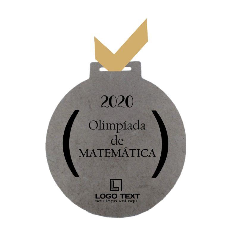 Medalha ecológica redonda