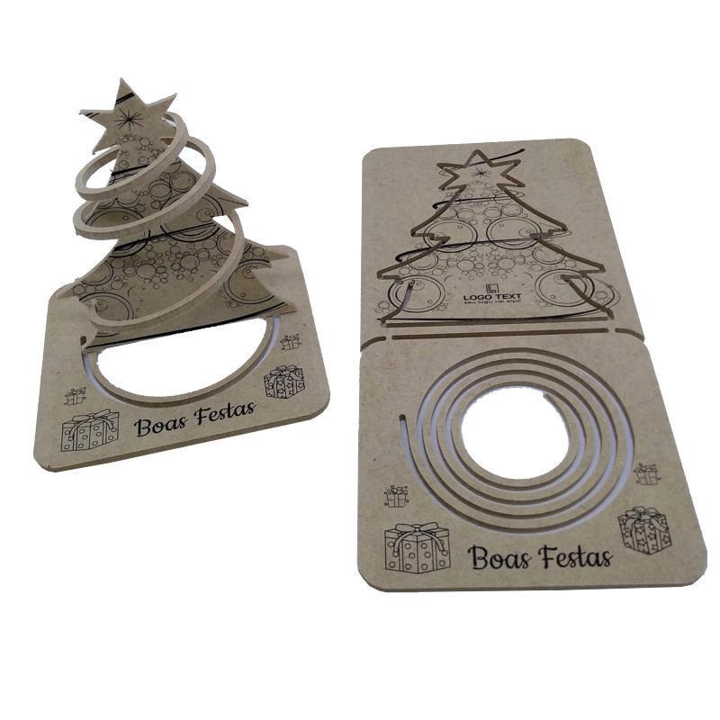 Cartão de Natal 3D - Espiral