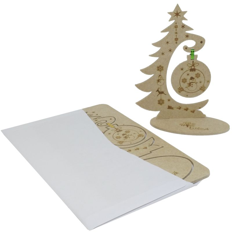 Cartão Postal de Natal 3D - Guirlanda