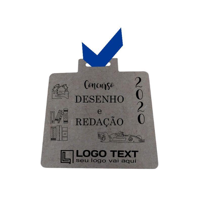 Medalha ecológica quadrada