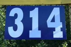 32x18 Inch Horizontal Outfield Distance Sign