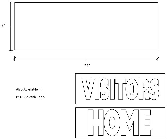 Dugout Header Home&Visitor Signs
