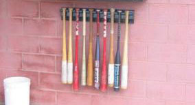Ten Hanging Bat Rack